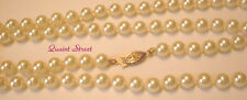 "cream gold filigree clasp 30"" $56 Premier Designs Countess Pearl Necklace ivory"