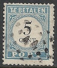 Netherlands 1881 NVPH Due 6Bff Plate Error  CANC  VF