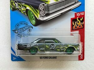HOT WHEELS 2020 SUPER TREASURE HUNT 65 FORD GALAXIE #10/10 WITH RUBBER TIRES