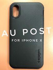 Neo Hybrid Carbon Fibre Dual Bumper Case For iPhone X