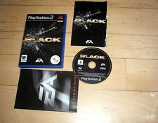 BLACK (2006) - Sony PS2 UK PAL video game - complete - FPS shooter