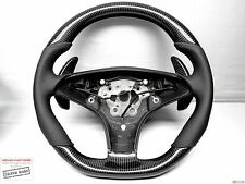 Mercedes CLS SL SLK 63 AMG No Ring Napa Blackout THICK CARBON Steering WHEEL
