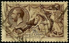 1918 Seahorse Sg413 2/6 Olive-brown, Used, Lot: Uk 1