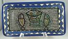 """TABGHA, ISRAEL MIRACLE OF LOAVES & FISHES  CERAMIC ART MOSIAC RECTANGLE 8"""" TRAY"""
