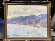 Martha Witte, early California listed artist oil on board California Cost