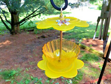THIS IS A ONE OF A KIND REPURPOSED PLASTIC YELLOW BUTTERFLY BIRD FEED YARD ART M