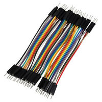 40pcs 10cm Dupont Cable Male to Male Jumper Wire Ribbon for Breadboard Arduino