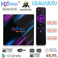 H96 MAX 3318 USB3.0 Android 9.0 Quad Core 4K HD Smart BT4.0 WiFi 1080P 3D TV Box