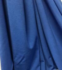 Micro Bamboo 4 Ways Spandex Knit Jersey Fabric Ecofriendly Luxury Linda Blue