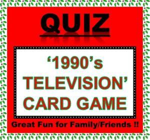 '1990's TV' Pub Quiz Trivia Card Game Table Fun Families/Friends/Zoom etc.