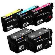 Epson 252XL 252-XL Printer Ink Cartridge Refill Toner Black Color 5 Pack NEW