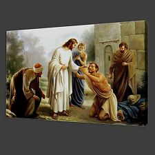Not Frame 12x16'' Canvas Print Pictures Jesus Forgive People Wall Art Home Decor