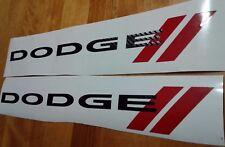 DODGE RAM FIBER CARBON STICKERS DECAL, TRUCK (SET)