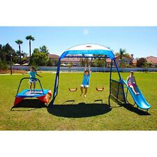 Outdoor Playground Swing Set Backyard Sliding Playset Kids Fun Toy Set Playhouse