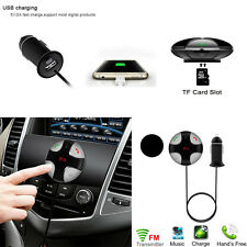 Bluetooth 4.2 Handsfree Car Kit FM Transmitter MP3 Player & USB Charger Magnetic