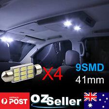 4x Super Bright 41mm 9-LED Car Interior Light Festoon Dome Map Lamp Roof Bulbs