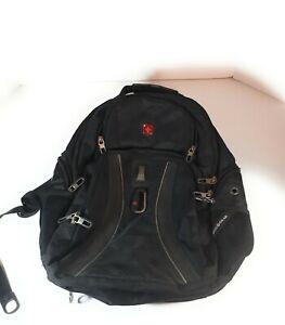 Genuine Swiss Army Knife Backpack Black Airflow Heavy Duty Laptop School Travel