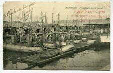 CPA - Carte Postale - France - Cherbourg - Torpilleurs dans l'Arsenal - 1915 (D1