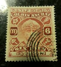 INDIA-COCHIN  1938 6p RED-BROWN USED