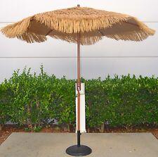 Bayside21 - 9' Cranking Hula Thatched Tiki Patio Umbrella **FREE SHIPPING**