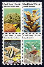 Scott 1827-1830 (1830a) Block of four 15 cent Coral Reefs MNH