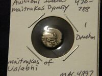 India (ancient) Drachm  Western India Silver Coin Maitraka dynasty  470-788 AD