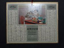 Calendrier Almanach 1956 dinette calendar France Post calendario Kalender
