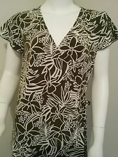 Ladies Rockmans size 14 wrap work office floral dress