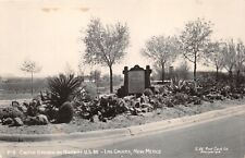 LAS CRUCES  NEW MEXICO CACTUS GARDEN HIGHWAY U.S. 80~REAL PHOTO POSTCARD 1950s
