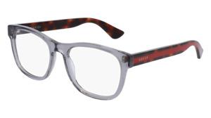 Gucci GG0004O 004 53 Gray Transparent 0004O Eyeglasses