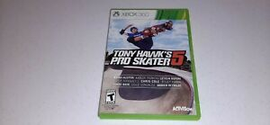 Tony Hawk's Pro Skater 5 (Microsoft Xbox 360, 2015) Video Game No Manual Tested