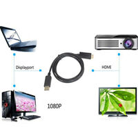 1.8m Display Port DP Male to HDMI Cable Converter Adapter for PC HP DELL TV