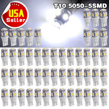 50PCS Cool White T10 Wedge 5050 5SMD LED Lights Interior Bulbs W5W 194 168 2825