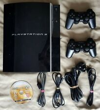 Black 80GB PS3 Console + 2 Official Dual Shock Controllers + Game
