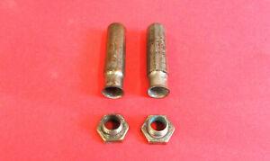 Vintage Antique Brass Era Schrader 1900's Nickel Tire Valve Stem Cap Dust Cover