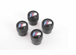 Genuine BMW M Logo Wheel Tire Valve Stem Cap Set 4 NEW 36122456427