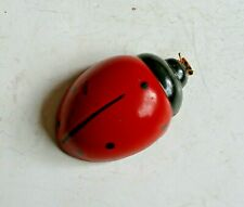 Old Self-propelled Kid's Toy in the Shape of a <LADYBUG>  Multi-material Metal a