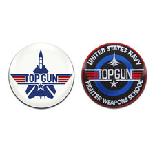 2x Top Gun Movie Tom Cruise 25mm / 1 Inch D Pin Button Badges