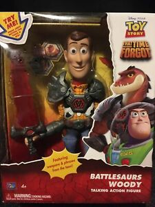 Toy Story That Time Forgot Battlesaurs Woody Figure boxed - Superb Condition