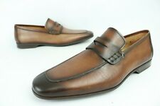 Magnanni 'Ramiro II' Midbrown Penny Loafers Slip On Men's Shoes Sz 9.5 M