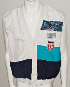 Yugoslavia Tennis Vtg Sport Waistcoat Jacket Shirt Jersey Davis Cup 80s