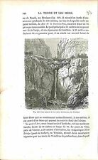 Bridge Pont Vallée Icononzo Valley Mexique Mexico GRAVURE ANTIQUE PRINT 1874