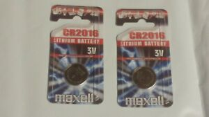2 x Maxell CR2016 Lithium Coin Cell Batteries Genuine