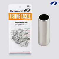 OCEAN CAT Single Barrel Copper Crimp Sleeves Fishing Leader Connector Tackle