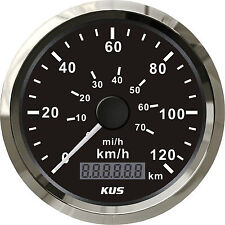 85mm KUS black normal impulse speedometer 0-120km/h CMOB-BS-120L (SV-KY08000)