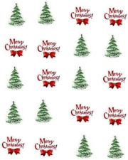"Merry Christmas ""Trees""  Waterslide Nail Decals/Nail art"