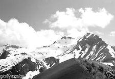 Paysage montagne Alpes neige # 2 - Tirage d'après négatif photo ancien deb. XXe
