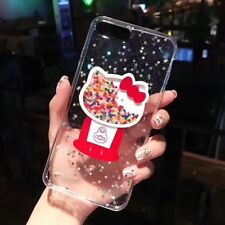 Cute Bling Hello Kitty Dynamic soft Case Cover for iPhone X XS Max 7 8 6S Plus