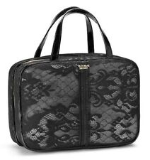 Victoria's Secret Hanging Travel Cosmetic Bags Black Lace New.