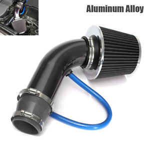 1 Set Car Cold Air Intake Filter Induction Pipe Power Flow Hose System Universal